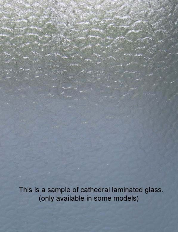 Translucent and Cathedral glass and frame options