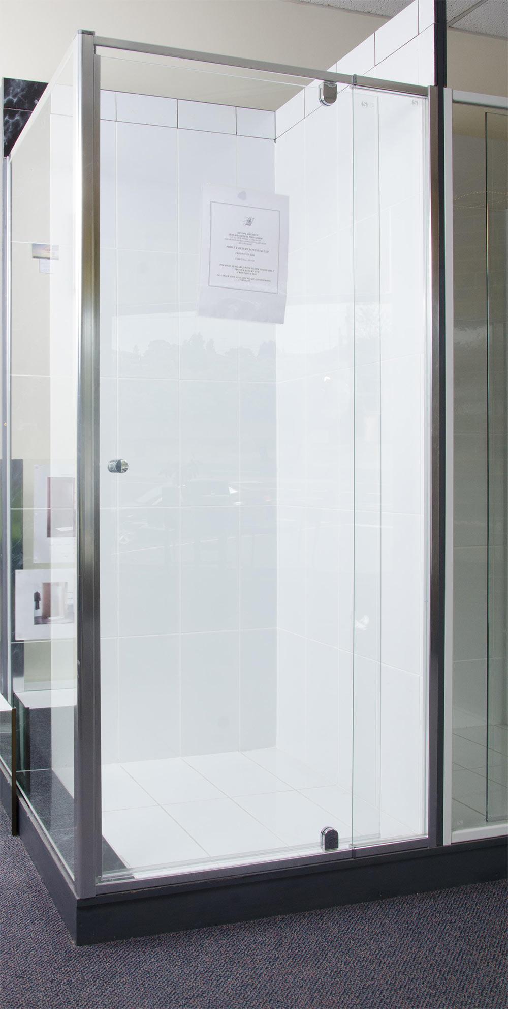 Optima Magnetic Semi Frameless Pivot Door Speedy Shower