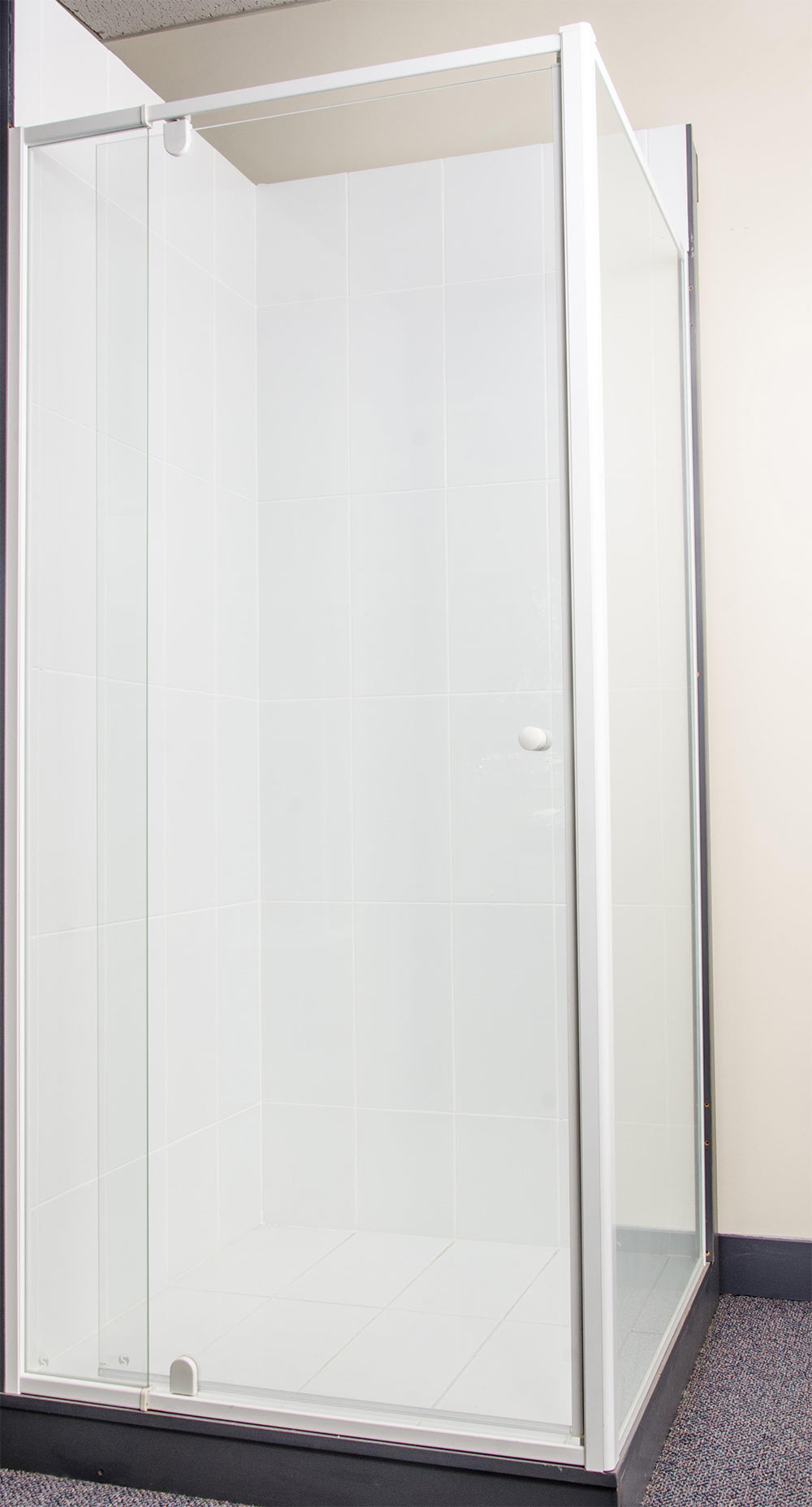 Optima Magnetic Semi Frameless Pivot Door Speedy Shower